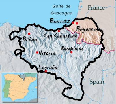 The Basque Community Crosses Over The Political Boarder Dividing